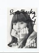 TINY YONG CARTE AVEC AUTOGRAPHE - Autographs
