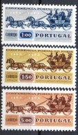 PIA - PORTOGALLO - 1963 : 100° Della Prima Conferenza Postale Internazionale Di Parigi  -  (Yv  919-21) - Filatelia & Monete