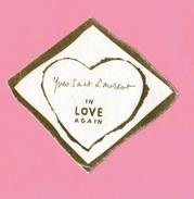 Cartes Parfumées Carte YVES SAINT LAURENT IN LOVE AGAIN DORÉE - Modern (from 1961)