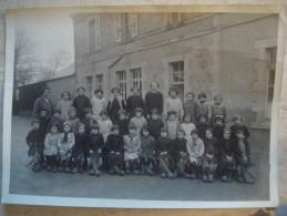 Photo De Classe St Germain Des Champs élèves En Sabots Dpt Yonne 1940 Groupe 2 - Photos