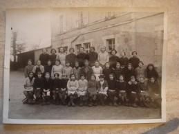 Photo De Classe St Germain Des Champs élèves En Sabots Dpt Yonne 1940 Groupe 1 - Photos