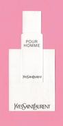 Cartes Parfumées Carte POUR HOMME  De YVES SAINT LAURENT - Modern (from 1961)