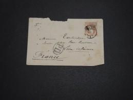 ESPAGNE - Enveloppe Pour La France , Période 1870 , Affranchissement Plaisant - A Voir - L 4648 - Cartas