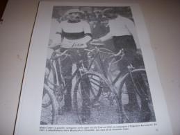 CYCLISME COUPURE LIVRE T071 TdF1905 Henri CORNET Hippolyte AUCOUTURIER - Cyclisme