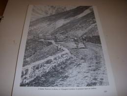 CYCLISME COUPURE LIVRE T233 TdF1929 PANCERA Et CARDONA Dans Le COL Du GALIBIER - Ciclismo