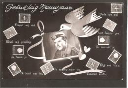 Postzegeltaal. Van Krimpen-Juliana En Profiel-Soldaat-Vredesduif - Postzegels (afbeeldingen)