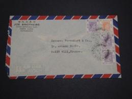 GRANDE BRETAGNE / HONG KONG - Enveloppe Pour La France En 1947 , Affranchissement Plaisant - A Voir - L 4666 - Hong Kong (...-1997)