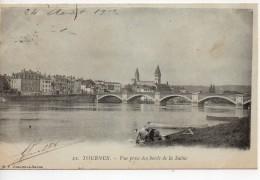 CPA.71.1902.Tournus. Vue Prise Des Bords De La Saone.Animée Femmes à Genoux Lavant Leur Linge. - France
