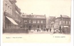 Angleur (Liège)-+/-1900-Place De La Gare-Hôtel De La Gare-Café Des Vélocipédistes-Edit. V.Xhrouet, Angleur-précurseur - Liege