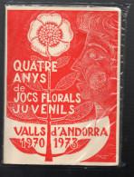 (andorre) Quatre Anys De Jics Florals Juvenils (vals D'Andorra 1970-1973) (AND021) - Livres, BD, Revues