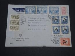 COLOMBIE - Enveloppe De La Légation Suisse à Bogota Pour Lausanne En 1950 , Affranchissement Plaisant - A Voir - L 4673 - Colombie