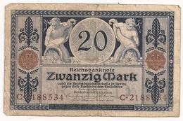 Allemagne. Reichsbanknote 20 Mark. Novembre 1915 - [ 2] 1871-1918 : Empire Allemand