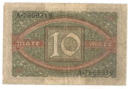 Allemagne. Reichsbanknote 10 Mark. Février 1920 - [ 3] 1918-1933 : Weimar Republic