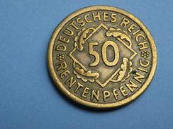 Allemagne Weimar 50 Rentenpfennig 1924 A Berlin  KM 34  ALU Bronze  TTB à SUP - 50 Rentenpfennig & 50 Reichspfennig