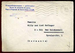 ITALY - GERMANY 1969 WW2 COVER FROM POW - Italy