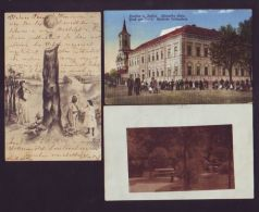 HUNGARY POSTCARDS INCLUDING CENSOR, GERMAN SCHOOL - Hungary