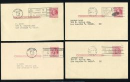 UNITED STATES STATIONERY STAMP DEALERS HEALTH POSTMARKS - Postal History