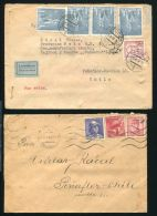 CZECHOSLOVAKIA AIRMAIL COVERS TO CHILE 1940s - Czech Republic
