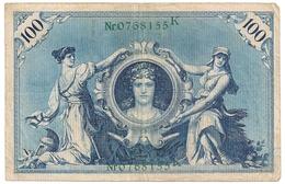 Allemagne. Reichsbanknote 100 Mark. Février 1908 - [ 2] 1871-1918 : Duitse Rijk