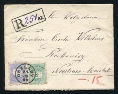HUNGARY 1884 REGISTERED OSZLANY TO RAKOVICE SLOVAKIA - Hungary