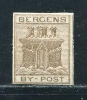 NORWAY BERGEN CITY POST 1865 - Norway