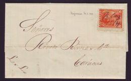VENEZUELA CHAGUARAMAS 1884 LETTER - Venezuela
