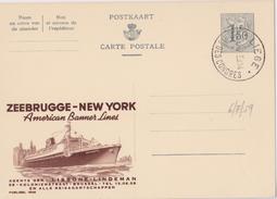 PUBLIBEL N° 1648 ZEEBRUGGE-NEW YORK - NF - Werbepostkarten