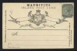 MAURITIUS 2c POSTAL STATIONERY CARD- WEAKPRINT - Unclassified
