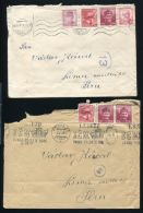 CZECHOSLOVAKIA AIRMAIL COVERS TO PERU 1940s - Unclassified