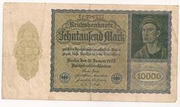 Allemagne. Reichsbanknote 10000 Mark. Janvier 1922 - [ 3] 1918-1933 : République De Weimar