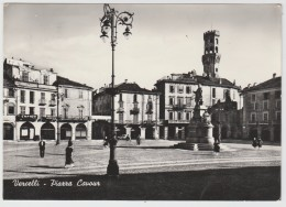 SVENDITA VERCELLI PIAZZA CAVOUR F/G VIAGGIATA 1959 - Vercelli