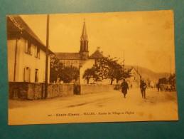 Carte Postale - WILLER (68) - Entrée Du Village Et L'Eglise (94/130) - Frankreich