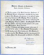 AUSTRALIA QUEEN MOTHER 1958 METHODIST CHURCH - Old Paper