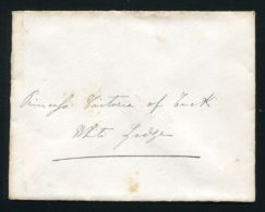 ROYAL COVER BY DUCHESS OF AOSTA TO PRINCESS VICTORIA OF TECK LATER QUEEN MAR - Unclassified