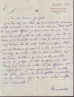 RARE QUEEN AMELIE PORTUGAL LETTER 1939 CHATEAU DE BELLEVUE COUTTS GREENFIELD - Other Collections