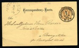 AUSTRIA - HUNGARY 1884 CARD - Hungary