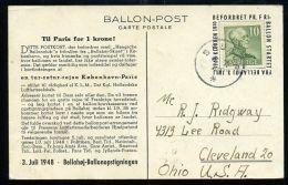 SWEDEN BALLOON POST 1948 - Sweden