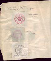 CZECHOSLOVAKIA UNUSUAL 1944-5 SPECIMEN STRIKES - Czech Republic