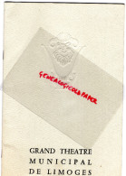 87 - LIMOGES - PROGRAMME THEATRE MUNICIPAL- PORTELLI-1963- CARMEN- JANE RHODES-OPERA-VALSES DE VIENNE-STRAUSS - Programs