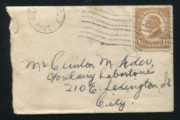 USA BALTIMORE JUDAICA 1925 HERZL TINY COVER - Postal History