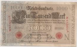 Allemagne. Reichsbanknote 1000 Mark. Avril 1910 - [ 2] 1871-1918 : Empire Allemand