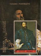 """Bf. 200A Manama 1972 """"Ritratto Di Federico II Gonzaga"""" Quadro Dipinto Da Tiziano Preobliterato Painting Tableaux Perf. - Arte"""