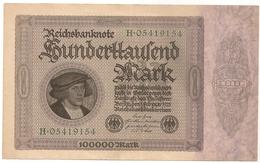 Allemagne. Reichsbanknote 100000 Mark. Février 1923 Neuf Mint - 1918-1933: Weimarer Republik