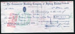 AUSTRALIA KENYA LION GB CHEQUE 1969 - Zonder Classificatie