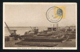 TANGANYIKA EXHIBITION SKELETON POSTMARK 1929 KING GEORGE 5TH - Tanganyika (...-1932)
