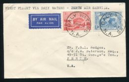 AUSTRALIA DALY WATERS TO PERTH FIRST FLIGHT - First Flight Covers