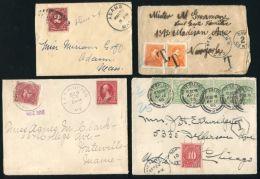 USA POSTAGE DUE COVERS AMAZING LOT! - Postal History