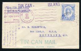 TONGA TIN CAN MAIL 1936 - Tonga (...-1970)