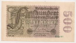 Allemagne. Reichsbanknote 500 Millions Mark. Septembre 1923 Neuf Mint - [ 3] 1918-1933: Weimarrepubliek