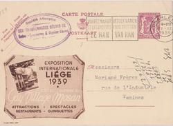PUBLIBEL N° 439 EXPOSITION INTERNATIONALE - LIEGE - F-N - Interi Postali